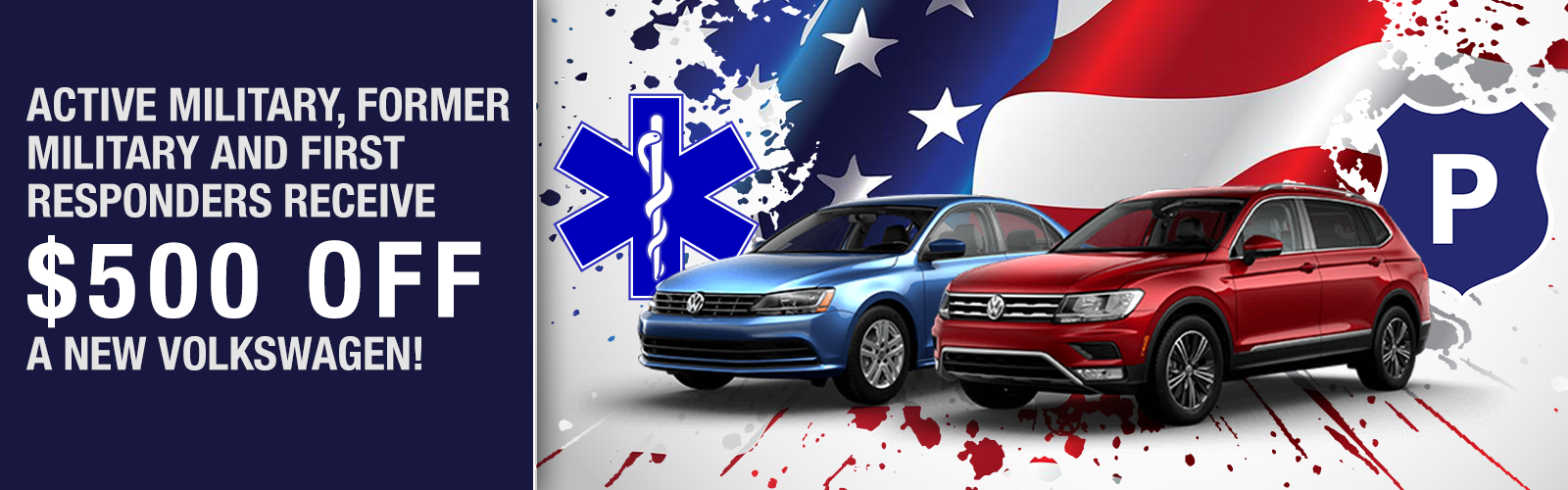 Active Military, Former Military and First Responders Receive $500 Off a New Volkswagen!
