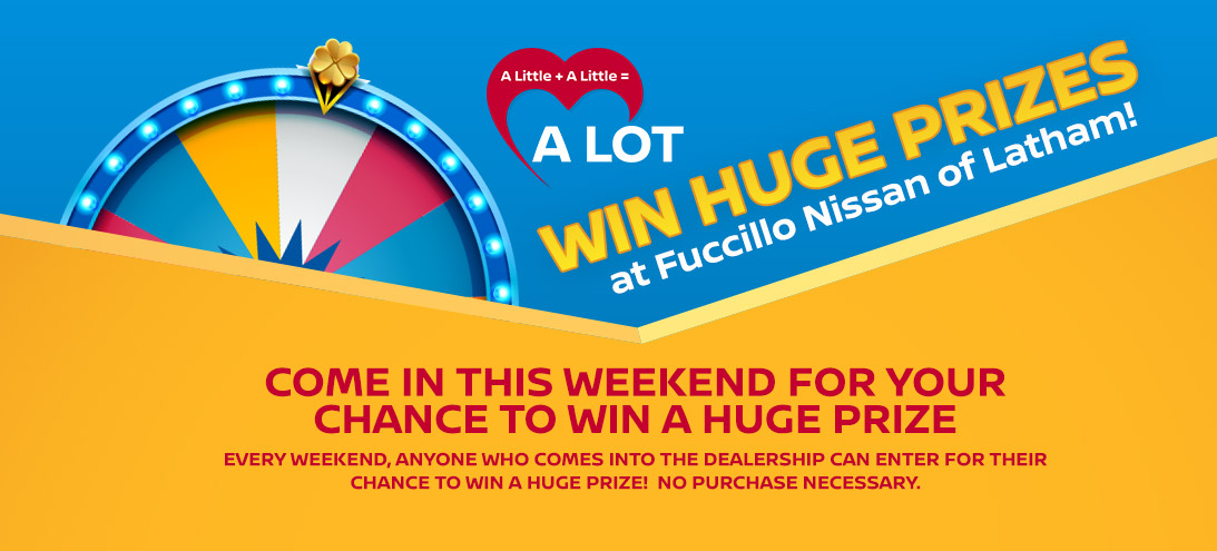 Huge Prize Wheel Event in Latham, NY | Fuccillo Nissan of Latham